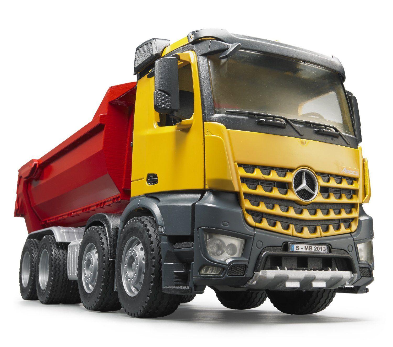 MB Arocs IKW - Camión volquete, color rojo y amarillo (Bruder 3623 ...