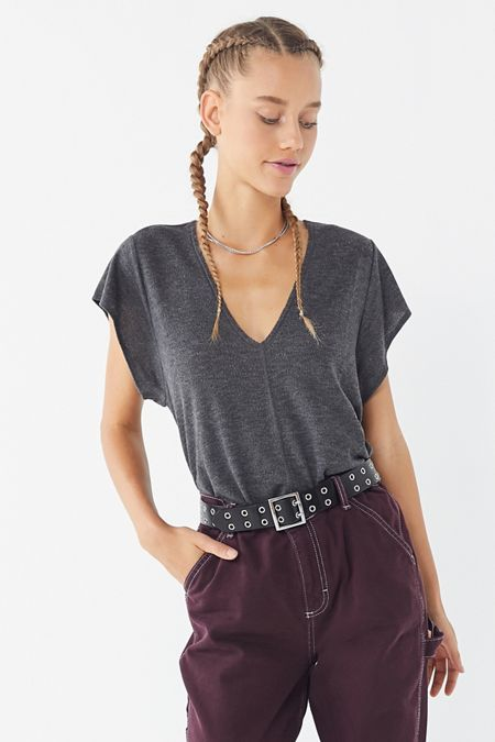 045c42470c76 Out From Under Wren V-Neck Top | Outfit Inspo in 2019 | Tops, V neck ...
