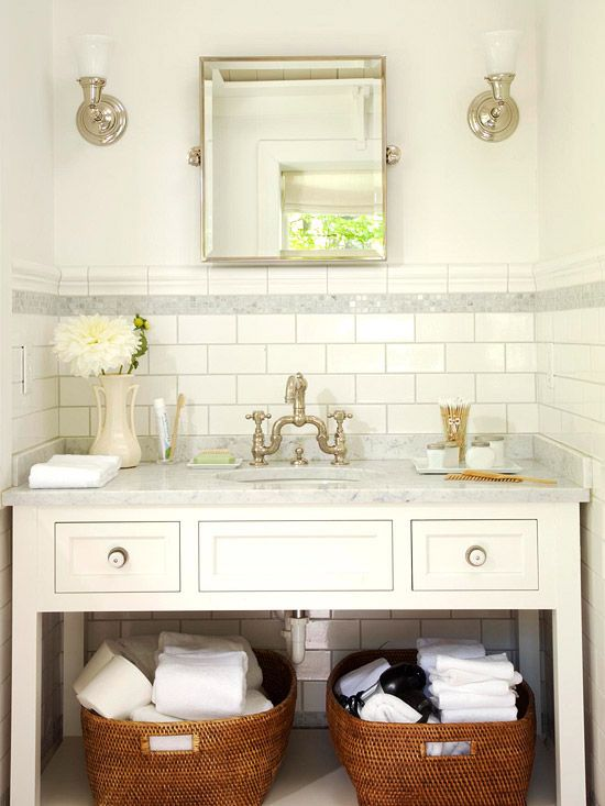 Small bathroom solutions easy bathroom updates easy for Small bathroom updates