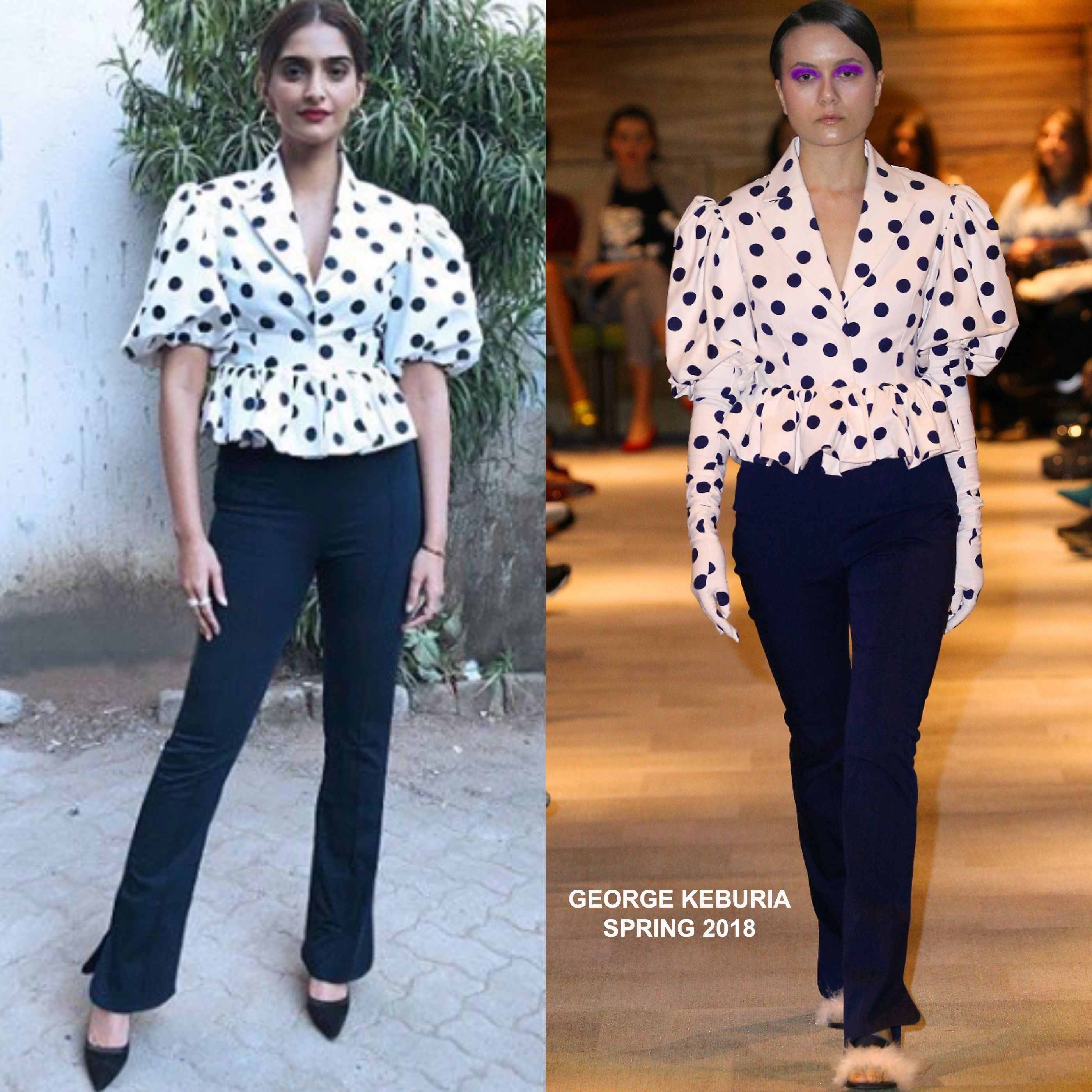 Instagram Style: Sonam Kapoor in George Keburia & Mother of Pearl