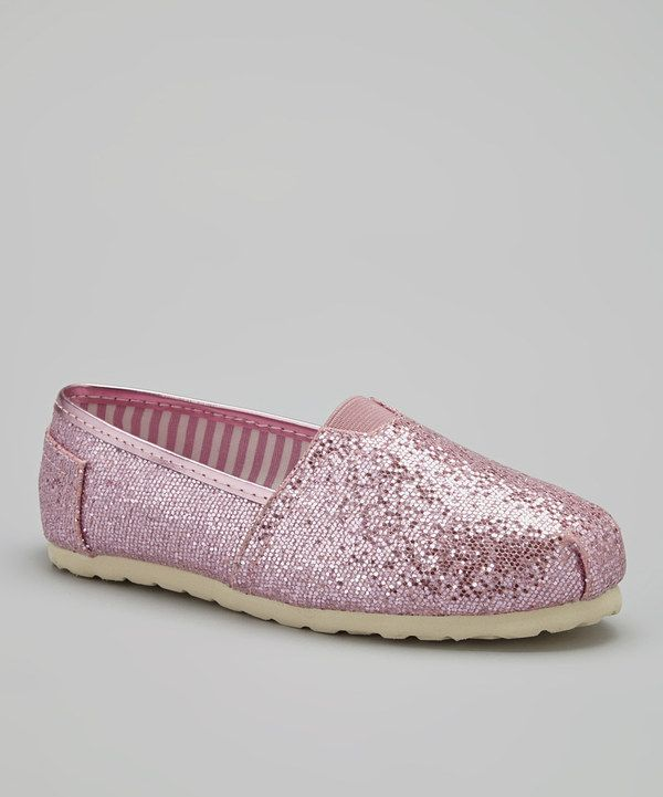 Look at this Pink Sparkle Shelby Slip-On Shoe on #zulily today!