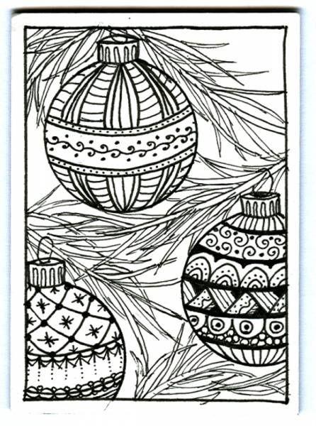 Christmas zentangles | Weihnachtsmalvorlagen ...