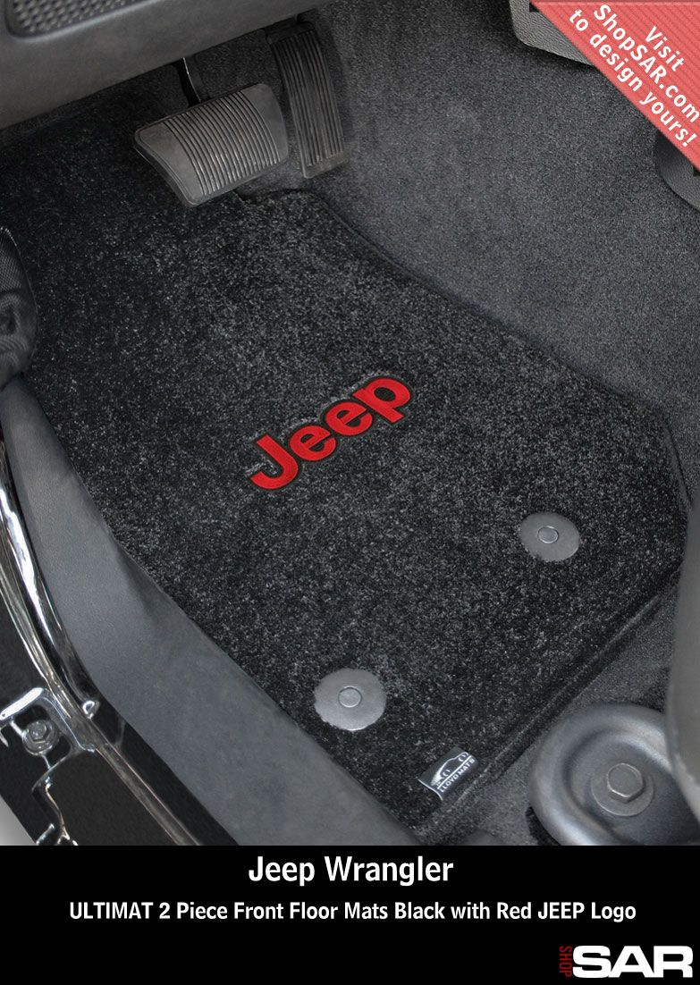 Black Ultimat Floor Mats Custom Made For A Jeep Wrangler Featuring