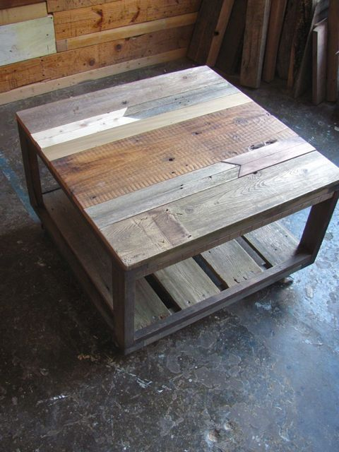 Repurposed pallet wood table by d i y for Repurposed pallet projects