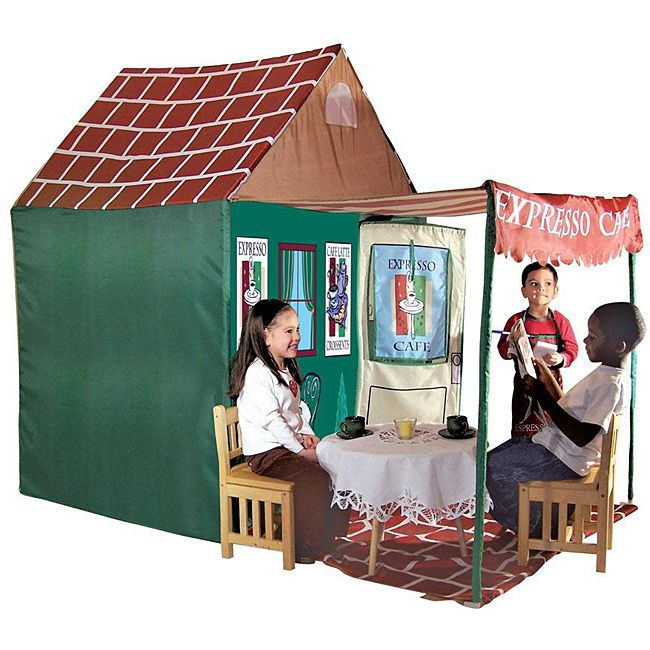 Kidu0027s Adventure Expresso Cafe 7 foot Play House Tent Boys/Girls Playhouse Fun  sc 1 st  Pinterest : large childrens play tent - memphite.com