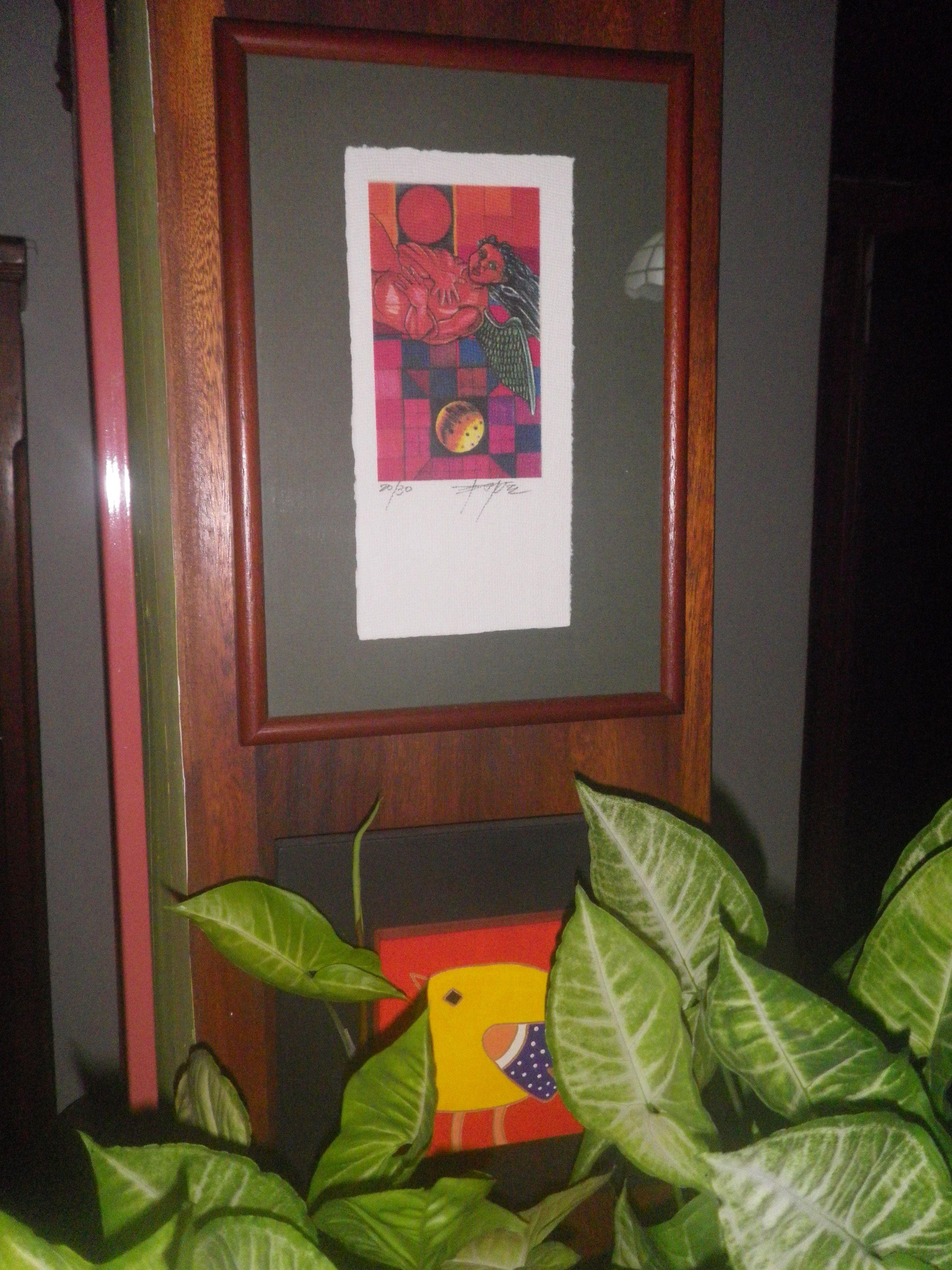 """Dibujo de Jesús """"gordo"""" Páez."""