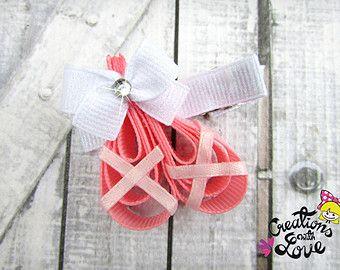 Zapatillas bailarina cinta escultura Cllip de pelo. Pinza de pelo del ballet. Zapatos de la bailarina
