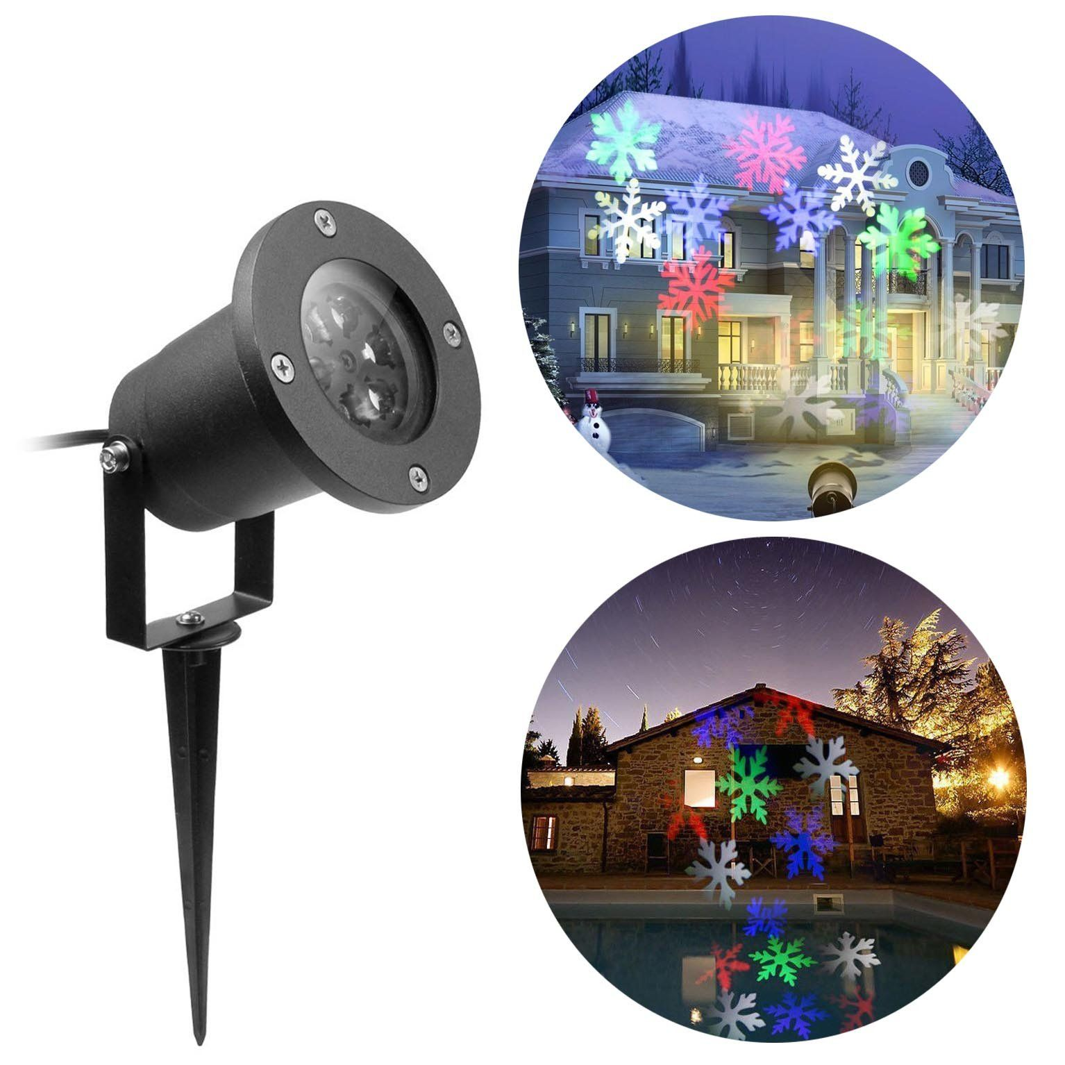 LED Christmas Light Projection Waterproof Landscape Snowflake ...