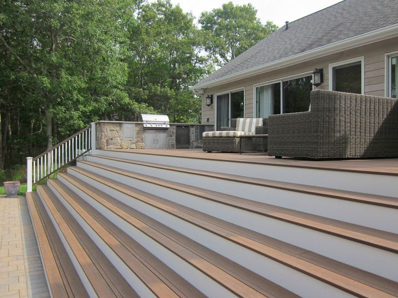 Best 15 X 75 Timbertech Deck With Azek Risers And Railings 400 x 300
