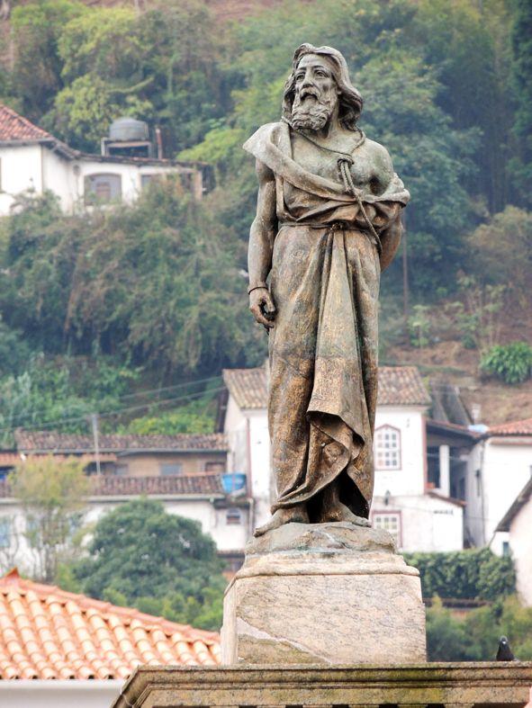 Estátua de Tiradentes em detalhe