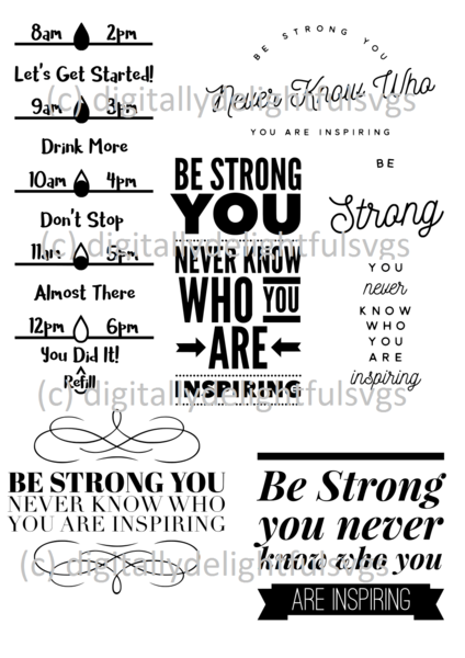 Water Bottle Svg Free : water, bottle, Strong, Water, Bottle, Decal,, Motivational, Bottle,