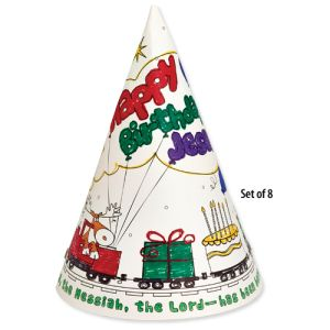 Happy Birthday Jesus Color Your Own Party Hat Pack Of 8 More