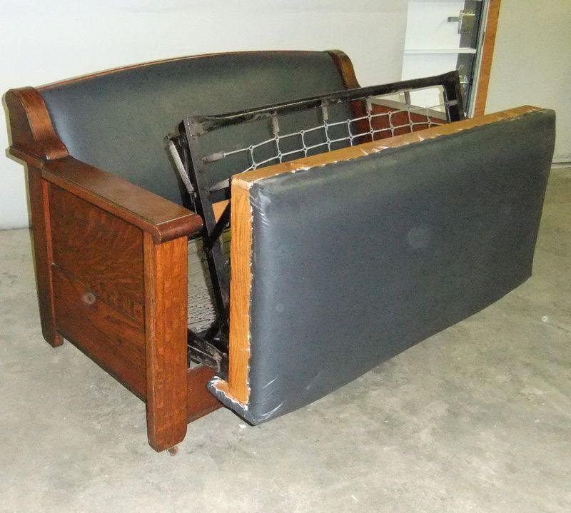 1905 15 Empire Mission Style Quartersawn Oak Sofa Murphy Antique Bed Couch Welcome To Central