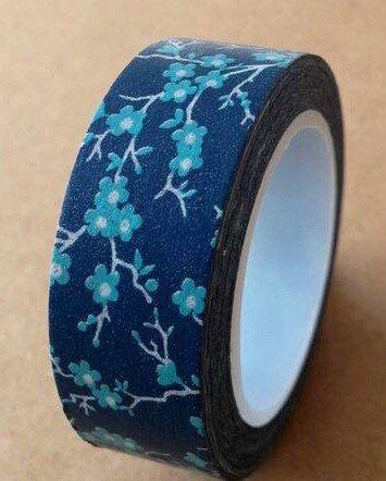 15375e39fc Blue Cherry Blossom Washi Tape by DaisyGreyPretties on Etsy