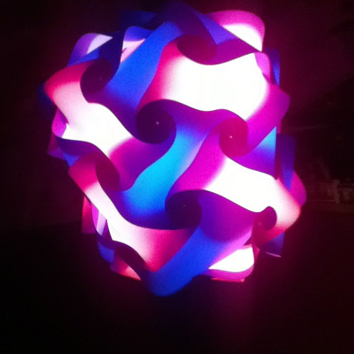 Infinity light -- and it's even in my wedding colors