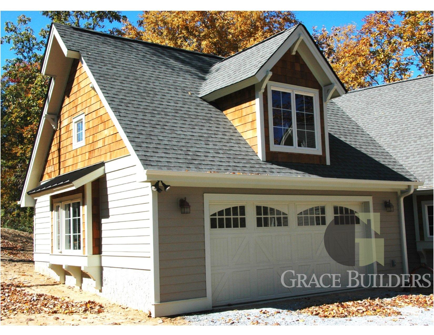 Grace Builders Garage Door Exterior Outdoor Mountain