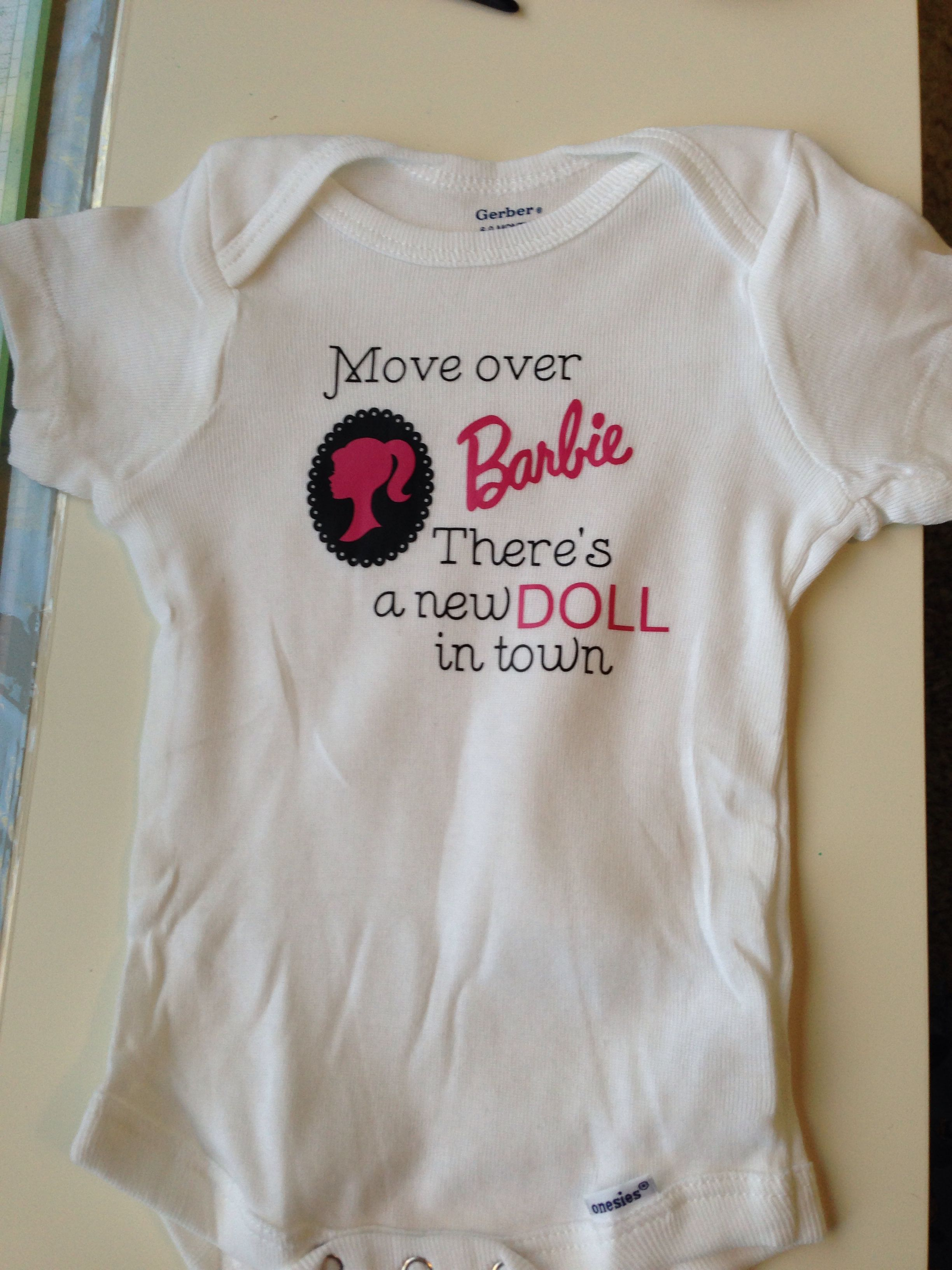 A onesie I made my niece (from my Silhouette Cameo ...