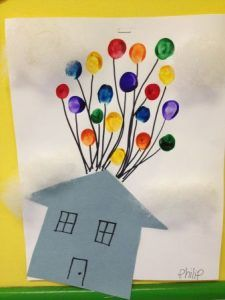 Anasinifi Parmak Boyasi Ile Sanat Etkinlik Ornekleri Disney Crafts For Kids Letter U Crafts U Craft