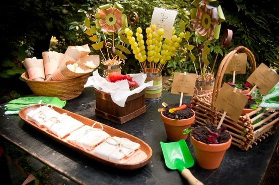 garden party ideas | source http frogprincepaperie com 2012 04 eco friendly plant a seed ...