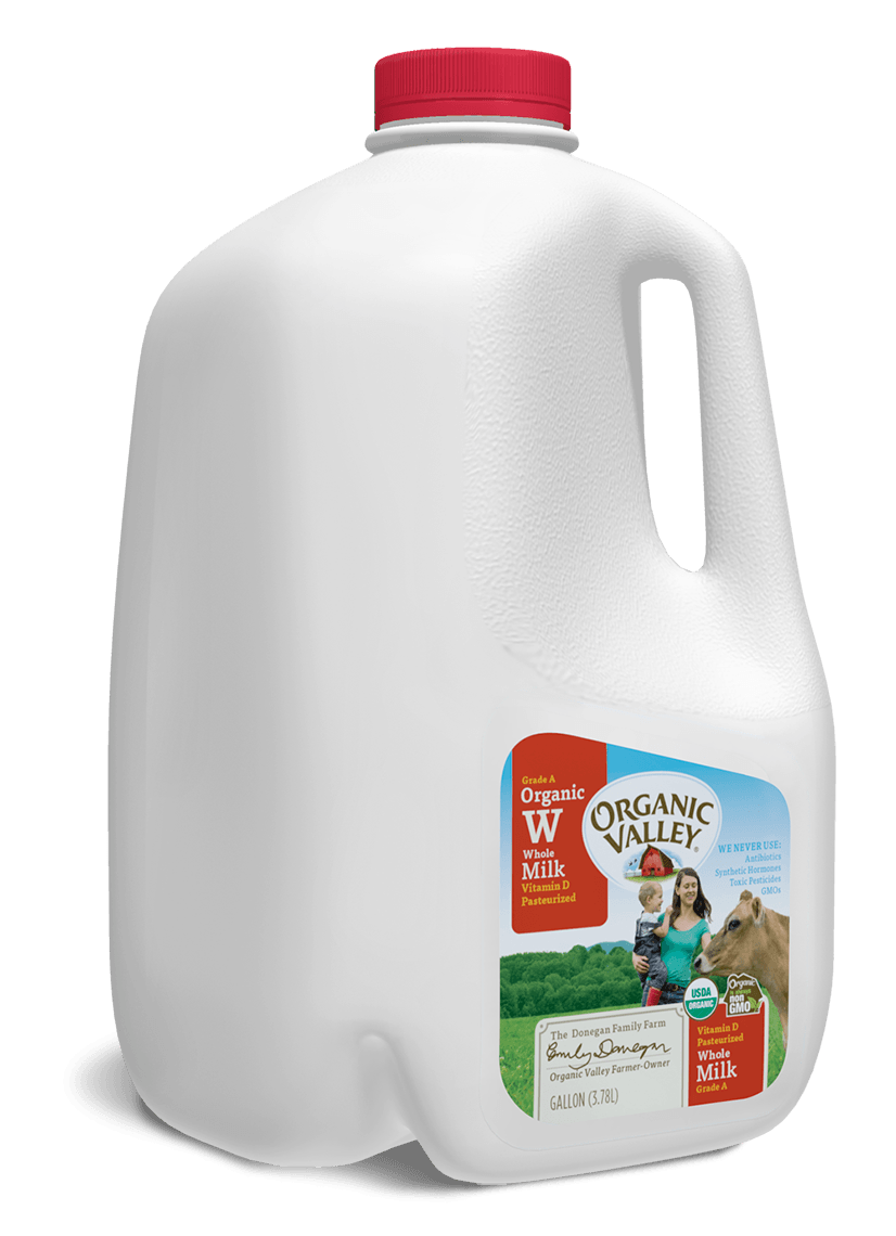 Organic Valley Whole Milk Pasteurized Gallon Organic Valley Milk Whole Milk Organic Valley