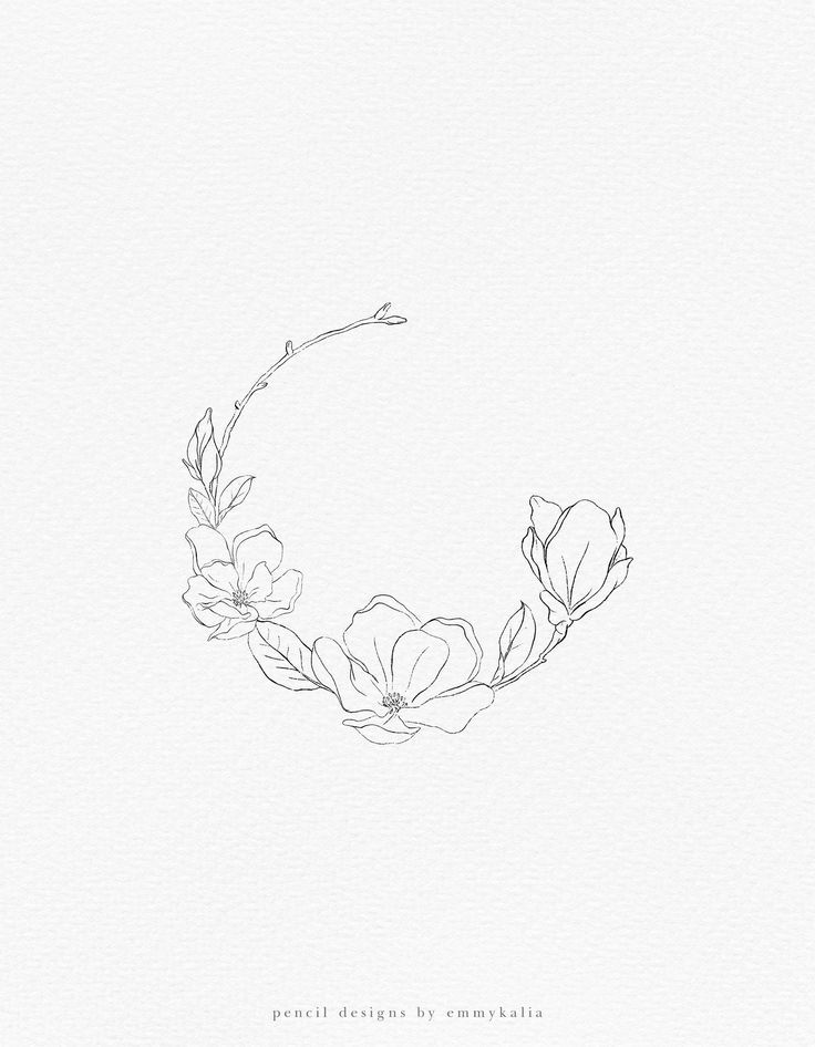 Photo of Magnolia Flower illustrations collection, modern floral clipart, wreaths, arrangements, wedding stationery