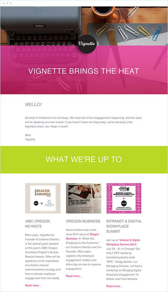 The Best Email Marketing Campaigns Of 2015 Vignette Agency