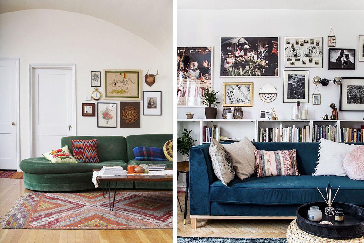 18 idées pour décorer le mur au-dessus du canapé  Décoration au