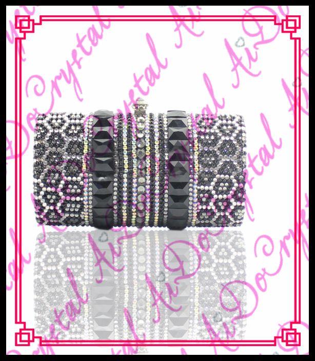 Aidocrystal Mode designer schwarz und weiß hand fall abendkristallbeutel //Price: $US $198.00 & FREE Shipping //     #dazzup