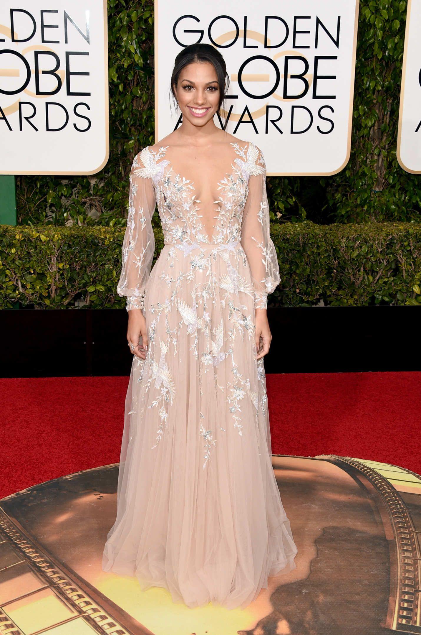 Miss Golden Globe Corinne Foxx. 2016 Golden Globes