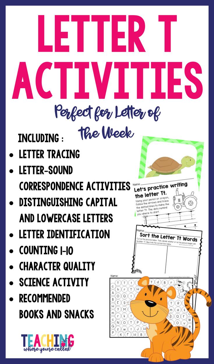 Letter Tt Activity Pack Letter T Activities Worksheets For Kids Letter T [ 1250 x 735 Pixel ]