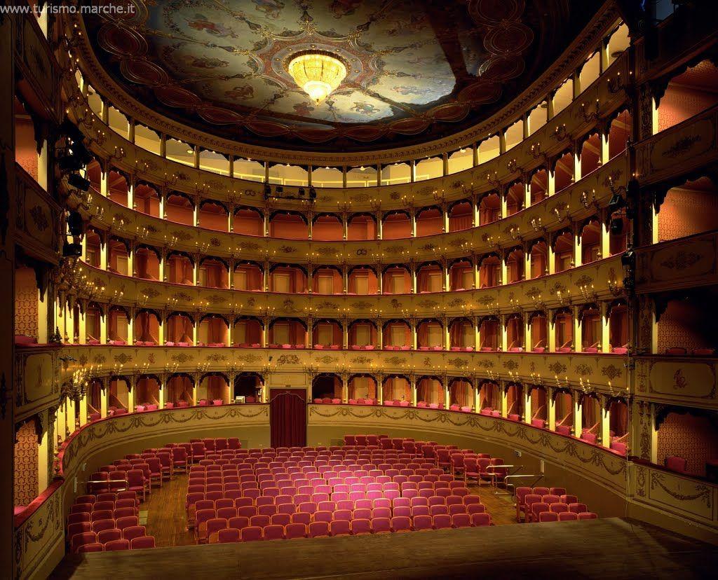 Pesaro, Teatro Rossini | Theatre architecture, Concert ...