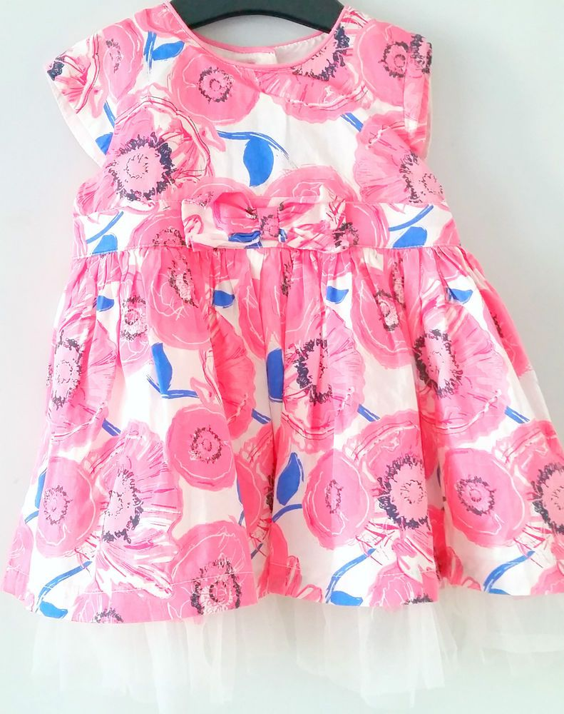 Baby girls dresses 3 6 months Pink Blue summer dress Party Lined ...