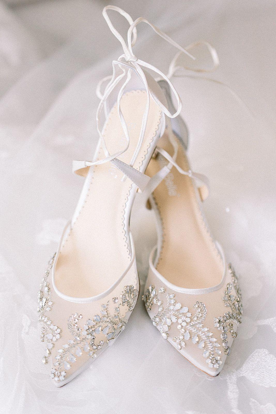Brides Most Favorite Sparkly Wedding Heel In 2020 Wedding Shoes Heels Ivory Wedding Shoes Wedding Shoes Low Heel