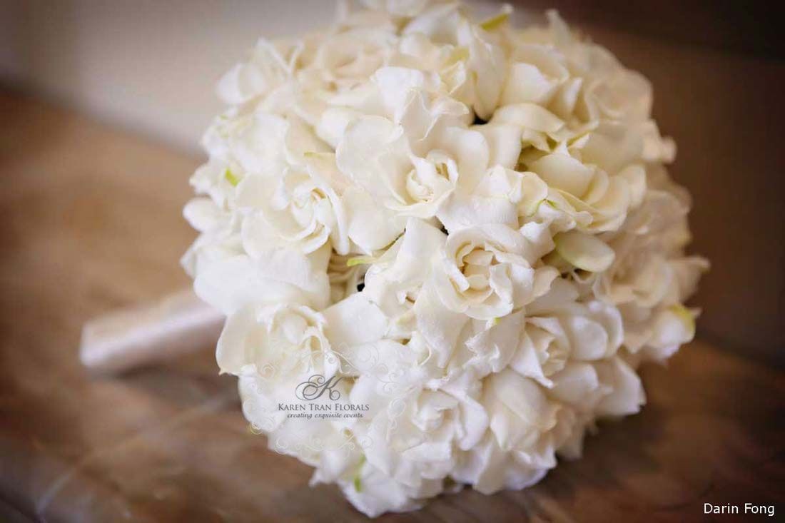 Gardenia Bridal Bouquet Beautifully Hand Wired Wrapped With French Satin Ribbons Gardenia Bridal Bouquet Gardenia Wedding Bouquets Gardenia Wedding