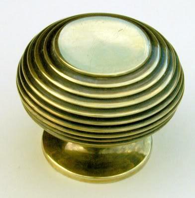 Large Antique Brass Beehive Cupboard Doorknob | Antique Door ...