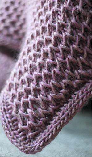 Knitted blanket: waffle knit blanket pattern | Easy knit ...