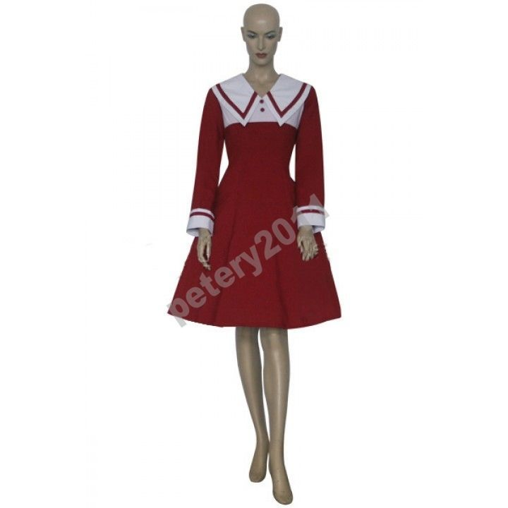 Custom-made Chii Brown Dress Cosplay Costume from Chobits