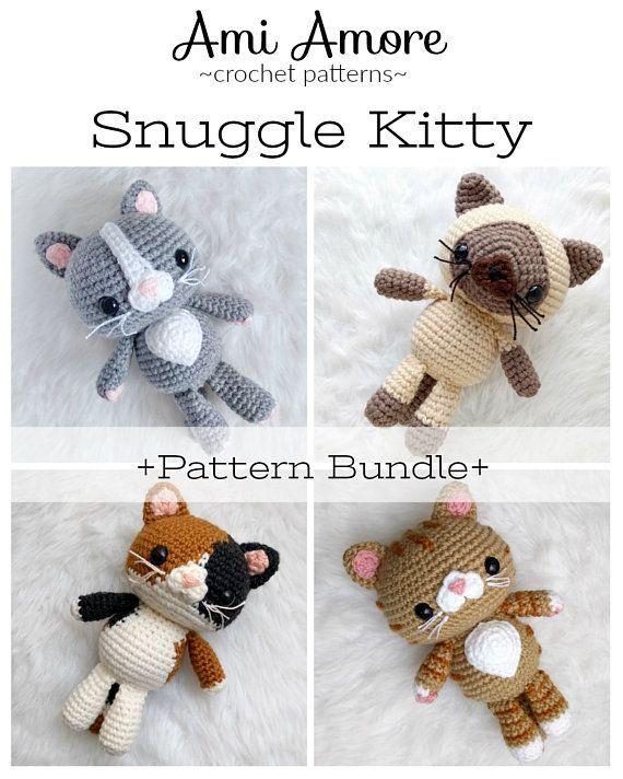 Pattern Bundle Crochet Kitty Cat Patterns Amigurumi Kitty Pattern Siamese Crocheted Tabby Pattern Bundle Crochet Kitty Cat Patterns Amigurumi Kitty Pattern Siamese Croche...