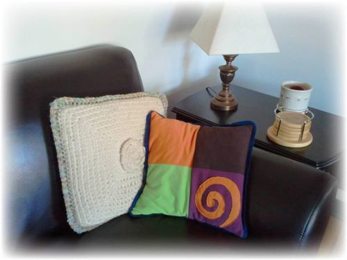 Upcycled T-shirt pillow