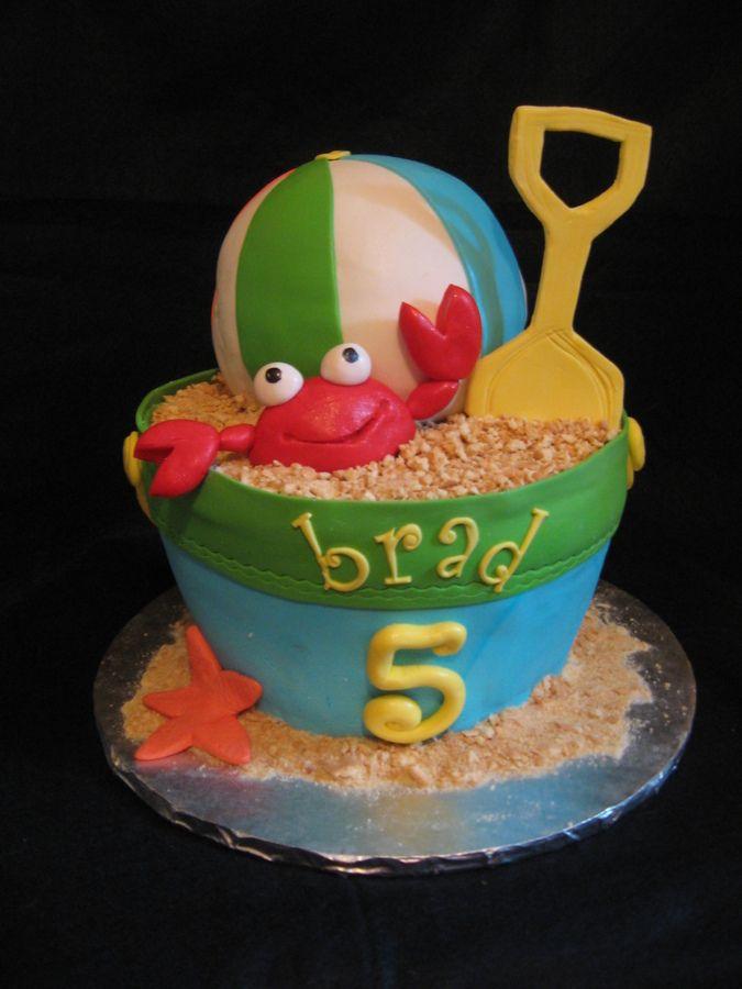 Phenomenal Beachy Swim Party Cake With Images Beach Birthday Cake Party Birthday Cards Printable Benkemecafe Filternl