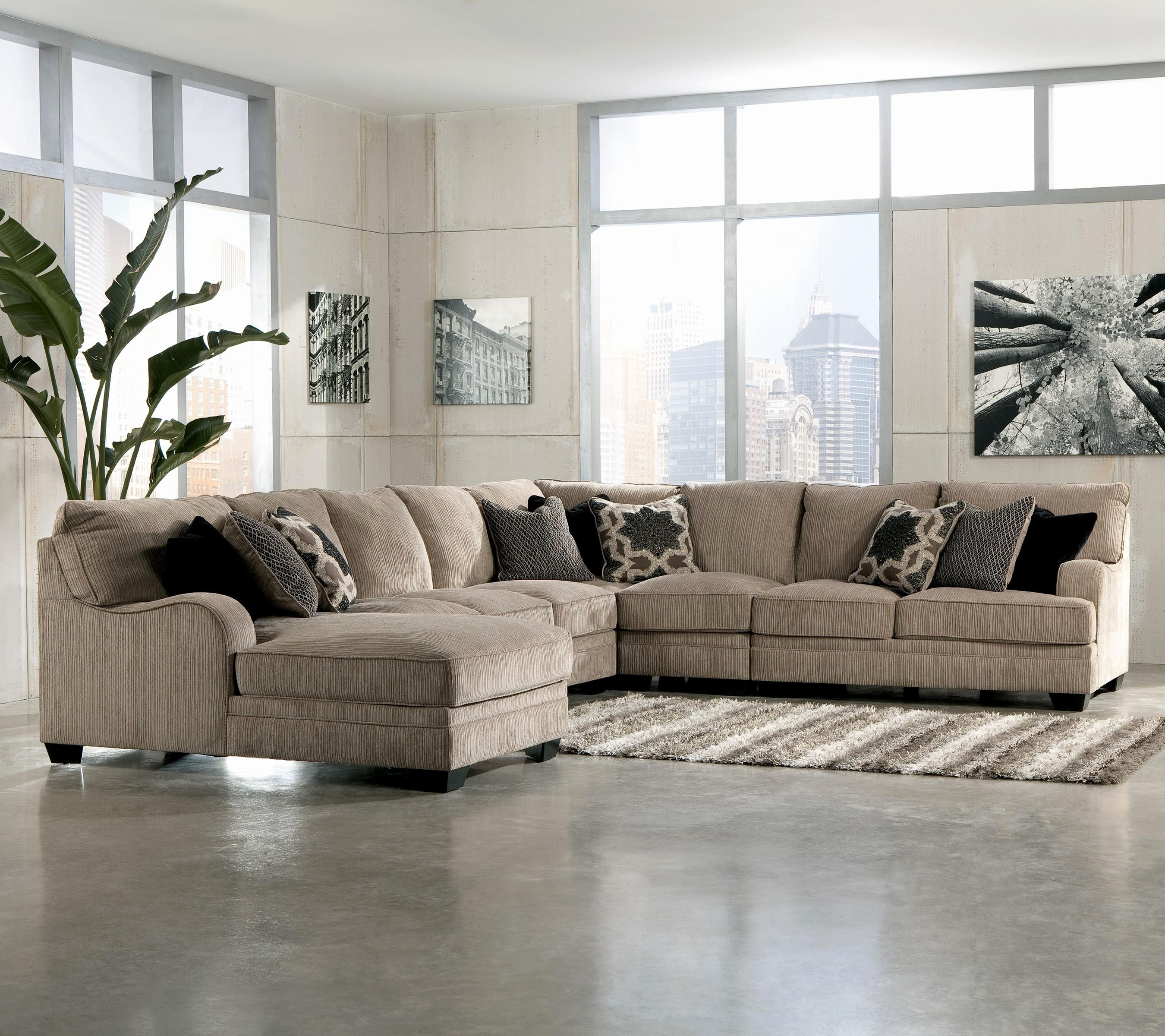 New Cream Sectional sofa Pics katisha platinum 5 piece ...
