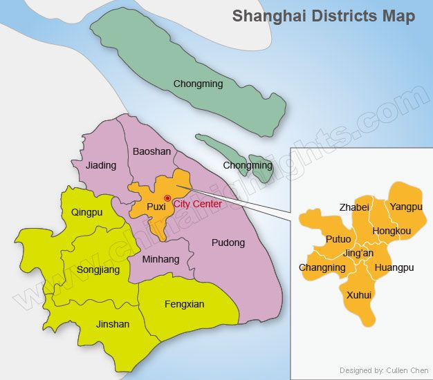Shanghai District Map china Pinterest Shanghai and City - new taiwan world map images