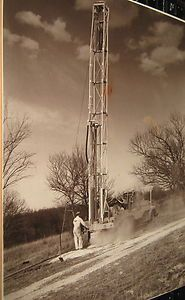1940 S George Failing Oil Drilling Rig Co Enid Oklahoma Working Rig Photo Ebay