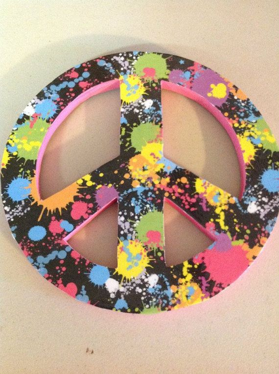 Peace Sign Wall Decor By Thecrossedcupcake On Etsy 10 00