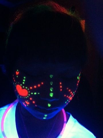 A Hair For Kids Birthday Party Spa Salon Glow Party Glow In Dark Party Glow Face Paint
