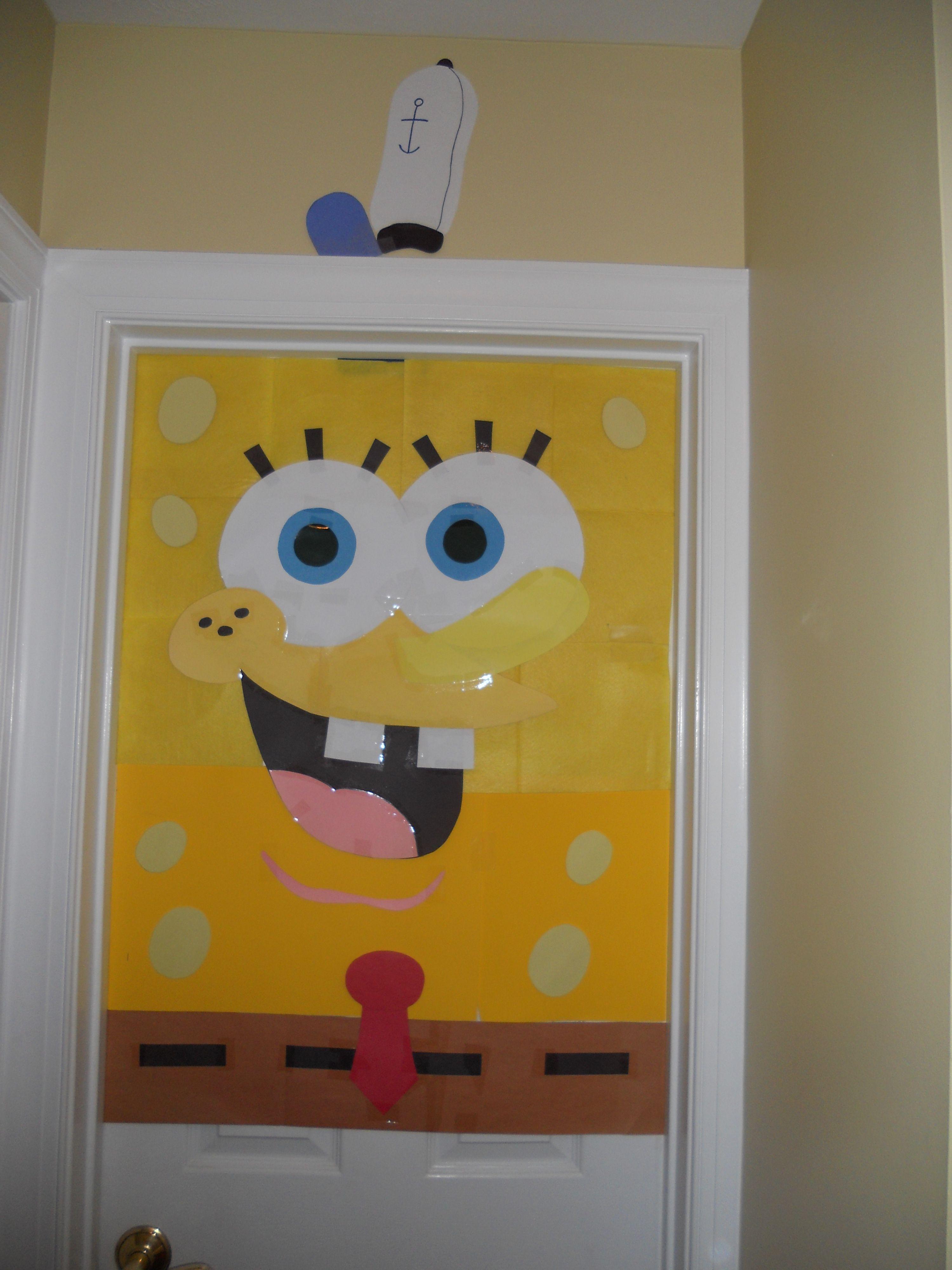 Home-made Spongebob door decoration. Made with ...