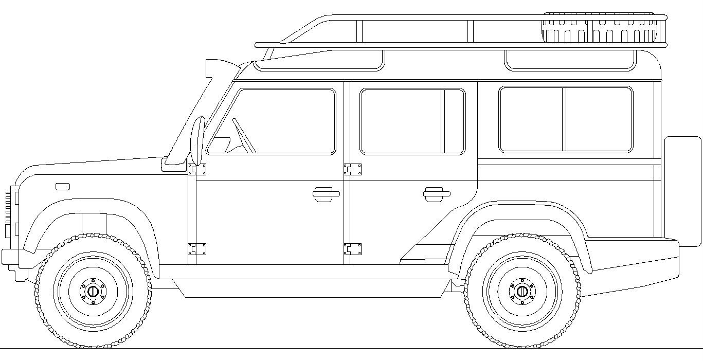 Land Rover Defender blueprint Landy 110 t Land rover