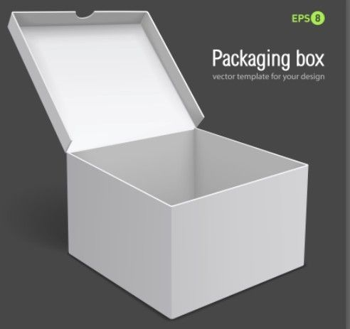 3D White Packaging Box Vector Template - TitanUI | Templates ...
