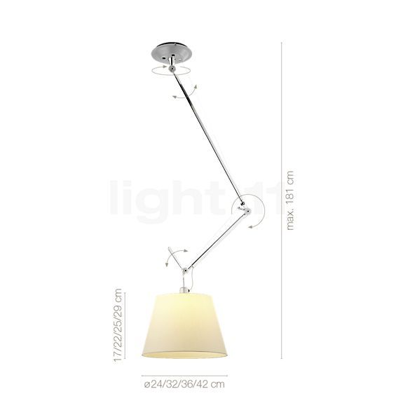 Buy Artemide Tolomeo Sospensione Decentrata At Light11 Eu Verlichting