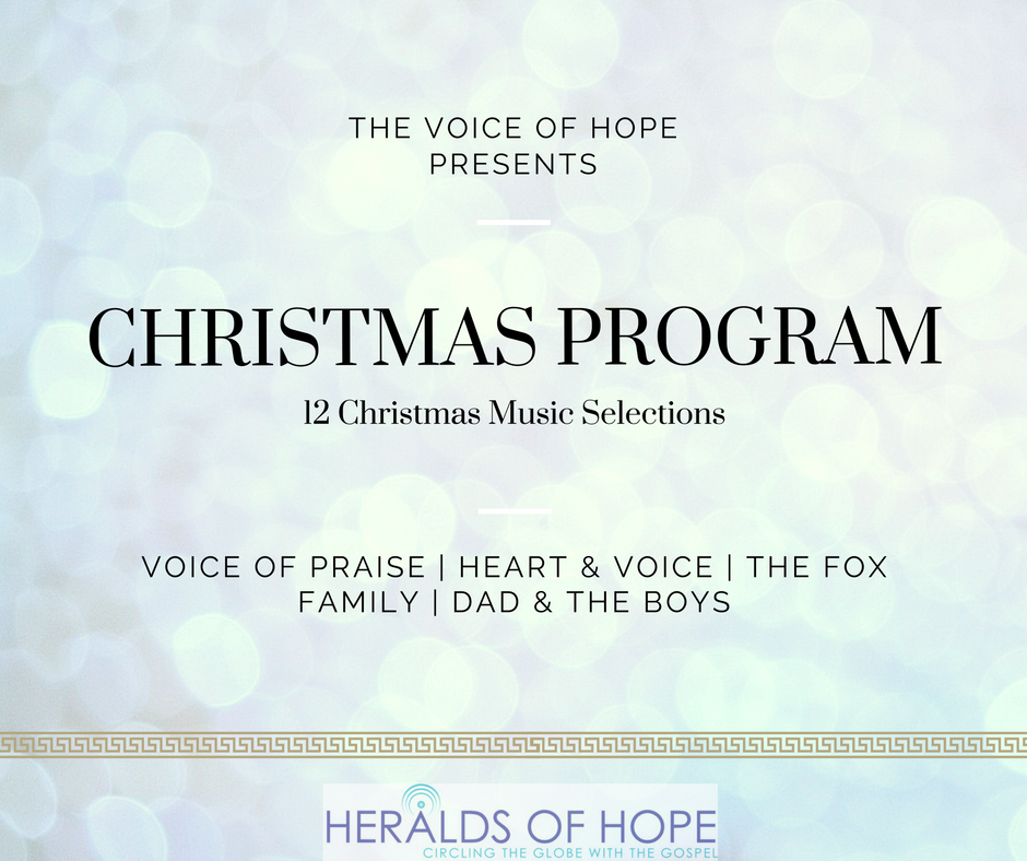 The Voice of Hope | Christmas Program | 12 Christmas Music Selections | Artists: Voice of Praise ...